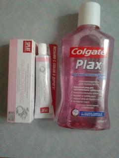 Splat комплексный уход и Colgate Plax