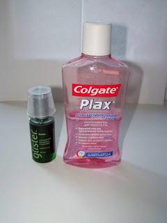 GLISTER и Colgate Plax