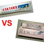 Lacalut fluor Gel VS. R.O.C.S. medical.